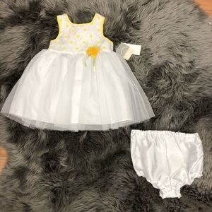Pastourelle | Girls White and Yellow Daisy Dress